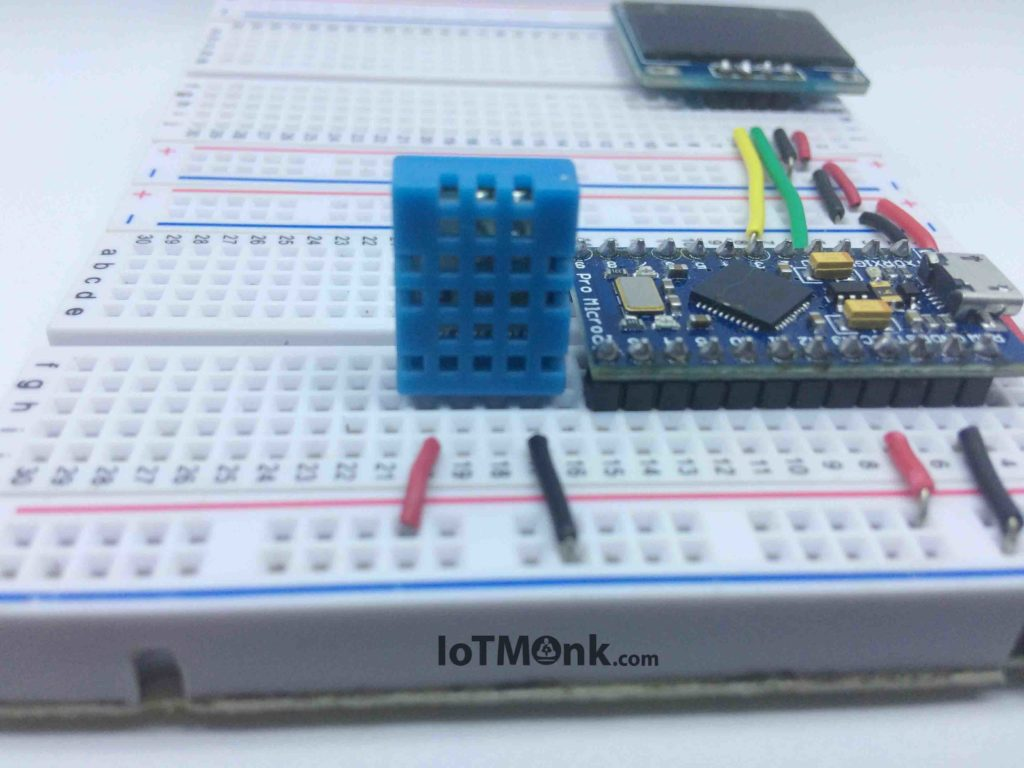 hight resolution of arduino leonardo pro micro with dht11 and 128x64