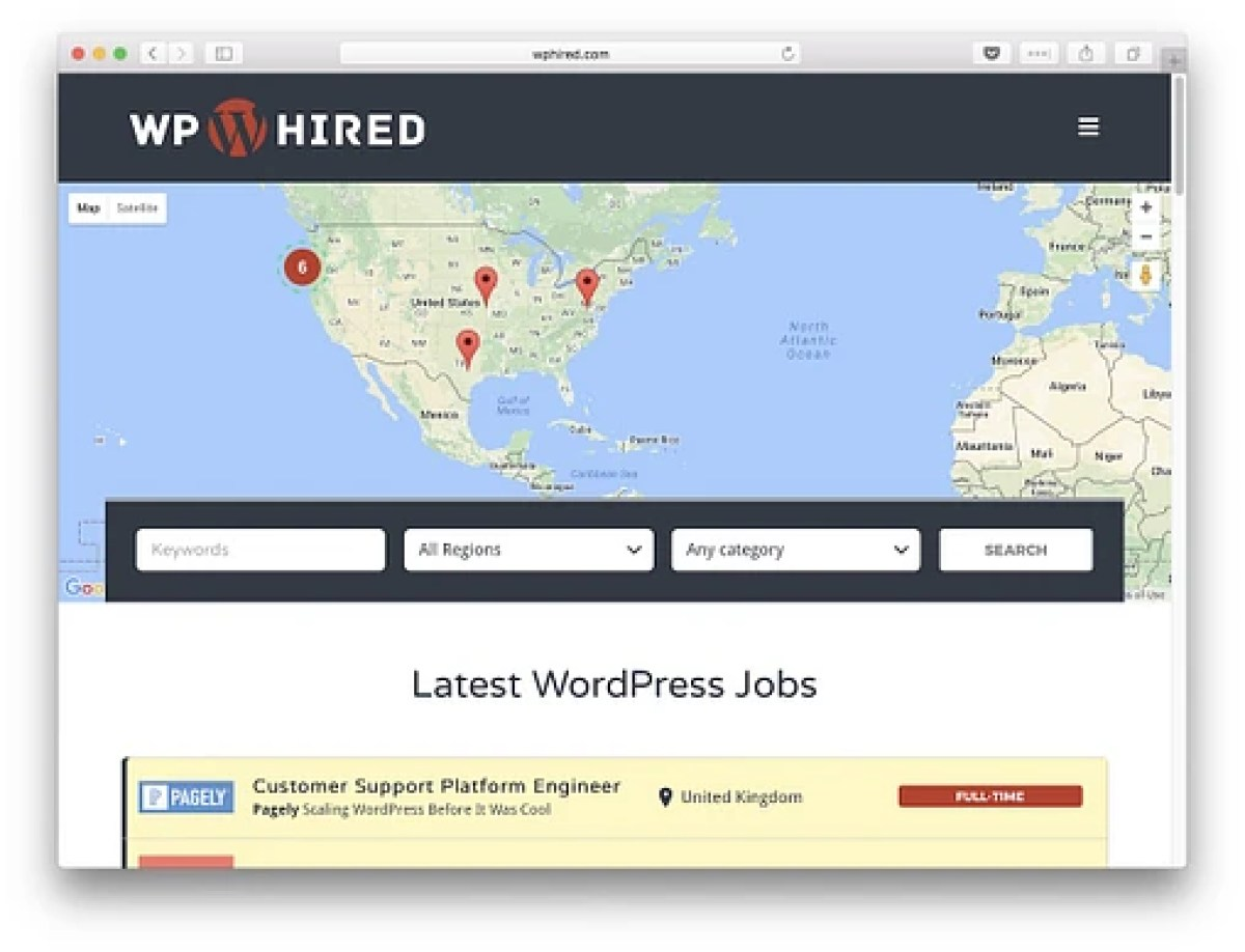 WPHired dedicated exclusively to WordPress jobs