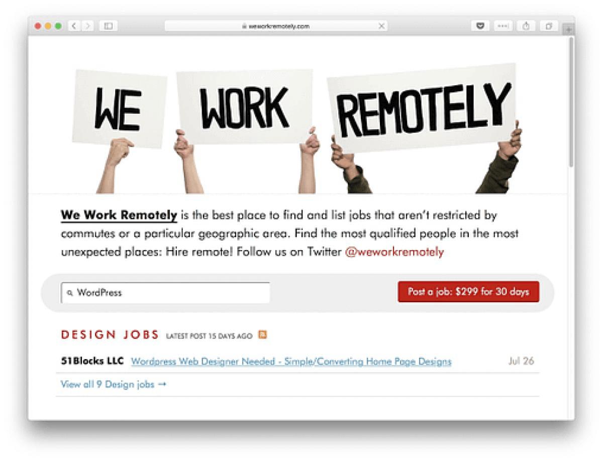We Work Remotely