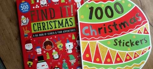 打發時間遊戲書第二發 Find it! Christmas和1000 Christmas Stickers 耶誕主題