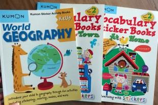 Kumon功文教育|貼紙遊戲書:世界地理與Vocabulary大尺寸貼紙書