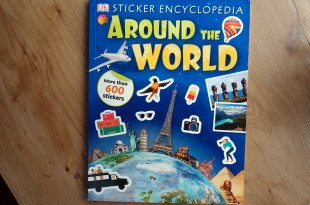 不能出國就把這本買起來,Sticker Encyclopedia Around the World,邊貼邊旅行