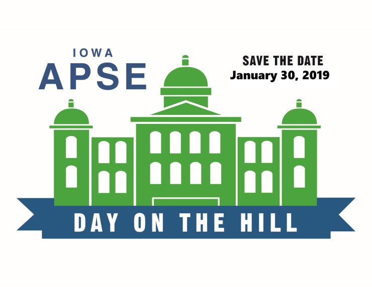 Iowa APSE Day on the Hill. Save the Date - January 30, 2019.