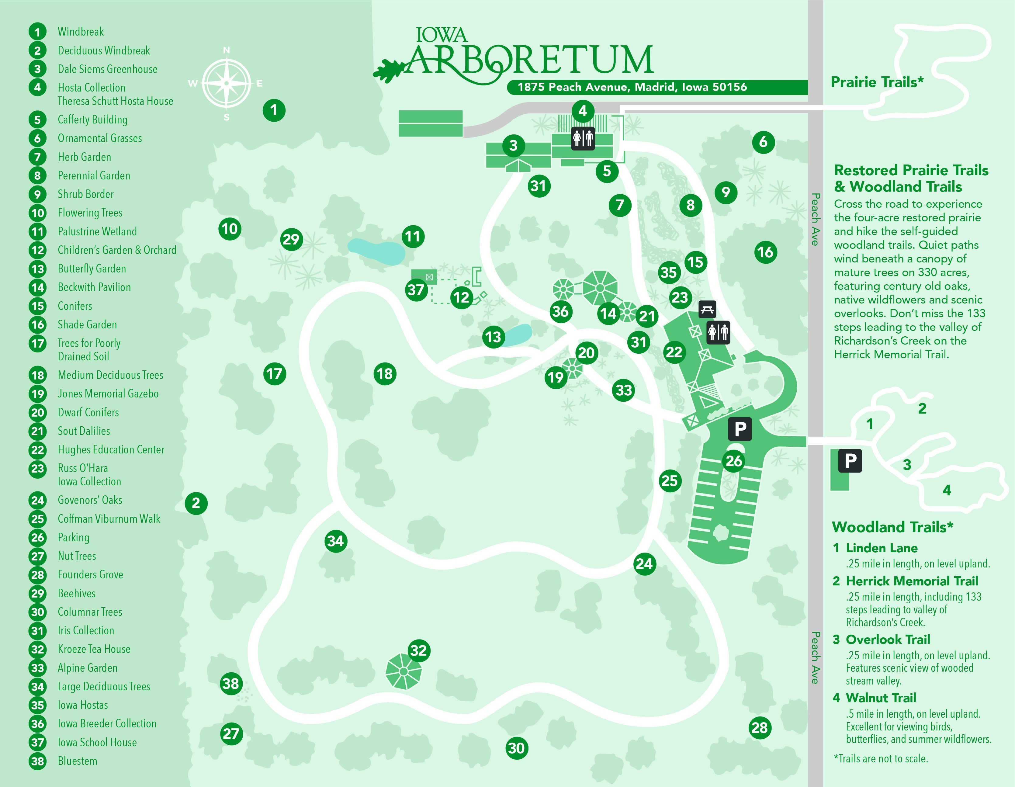 click on the links below to explore other areas of the arboretum
