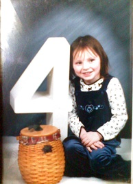 Jaymie Grahlman at age 4