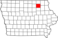 Chickasaw County in Iowa