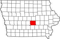 Jasper County in Iowa