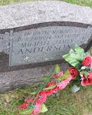 Michael Anderson headstone