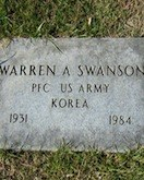 Warren Swanson tombstone for cases page