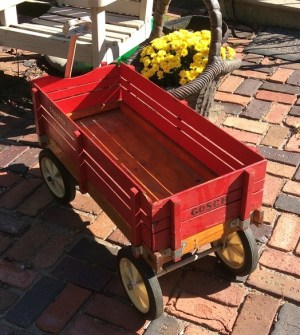 Johnny Gosch's red wagon