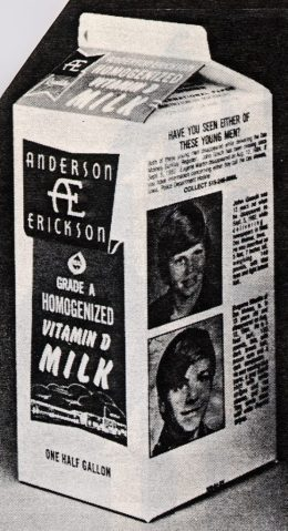 Milk carton kids Johnny Gosch and Eugene Martin