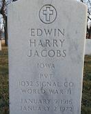 Edwin Jacobs gravestone