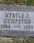 Myrtle Cumpston headstone
