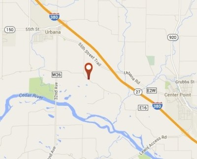 Location of Huelsenbeck farm (Courtesy Google)