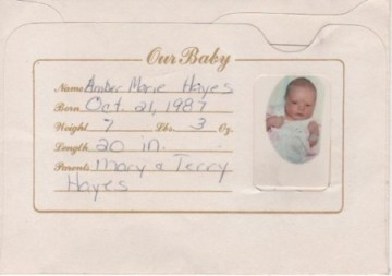 Amber Marie Hayes birth announcement