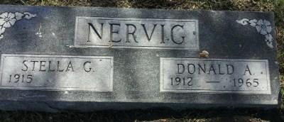 Donald Nervig gravestone