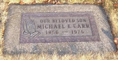Michael Carr gravestone