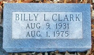 Billy Lee Clark gravestone