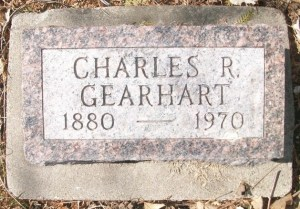 Charles Gearhart's headstone