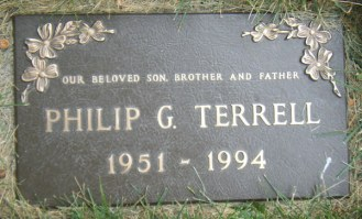 Phil Terrell's gravestone