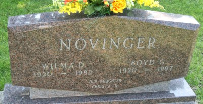 Boyd Novinger headstone (Courtesy Julia Johnson)