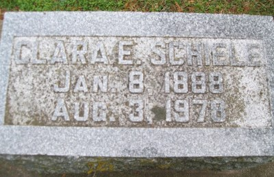Clara Schiele gravestone
