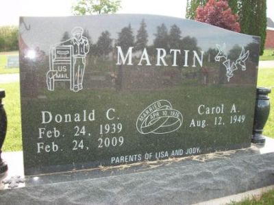 Donald Martin gravestone