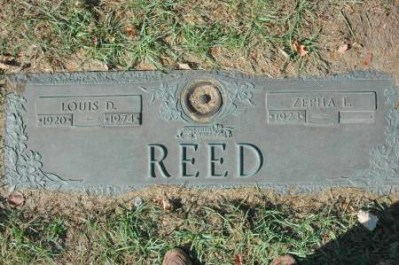 Louis Reed tombstone