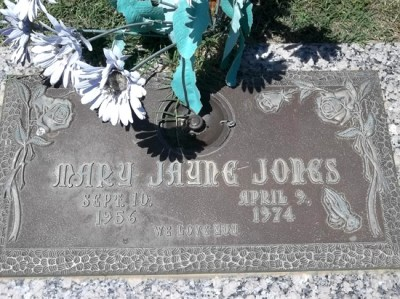 Mary Jayne Jones gravestone