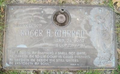 Roger Warren's gravestone