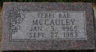 Terri McCauley's gravestone