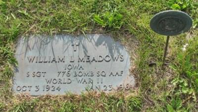 William Meadows headstone