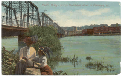 Wabash Railroad bridge in Ottumwa