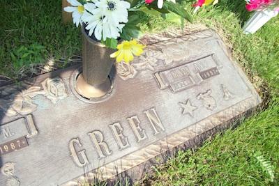 Mary Ann Green's gravestone (courtesy photo)