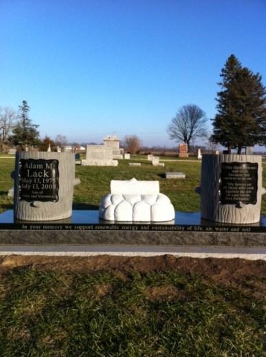 Adam Lack's gravestone
