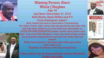 A flyer distributed online in the search for Willis Hughes. (Courtesy WQAD and Facebook)