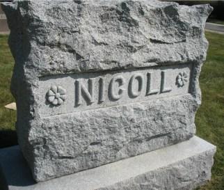 nicoll-family-headstone