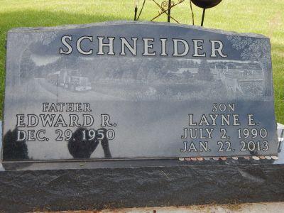 Layne Schneider gravestone