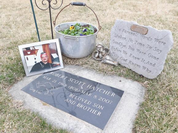 Robert Hatcher gravestone