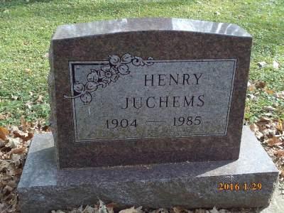 Henry Juchems gravestone