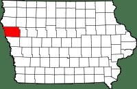 Iowa Map - Woodbury County