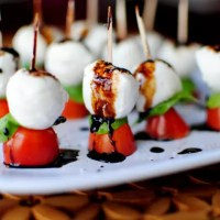 Caprese Skewers with Balsamic Drizzle (Video)