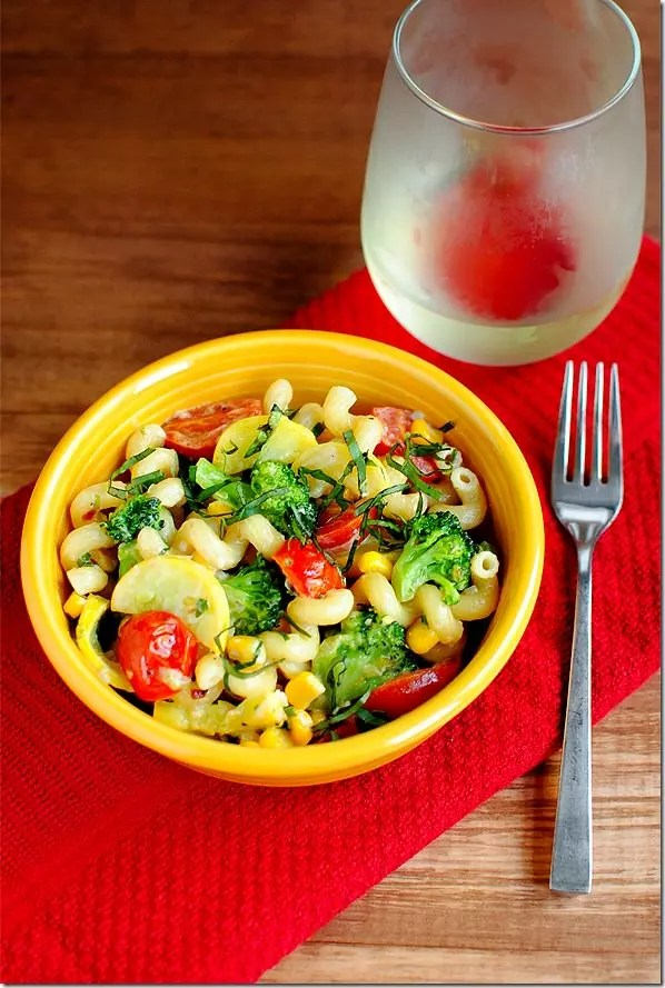 http://iowagirleats.com/recipes/summer-veggie-pasta-skillet/