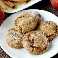 Soft Batch Apple Cider Gingersnap Cookies (Gluten-Free)
