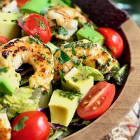 Shrimp and Avocado Taco Salad (Video)