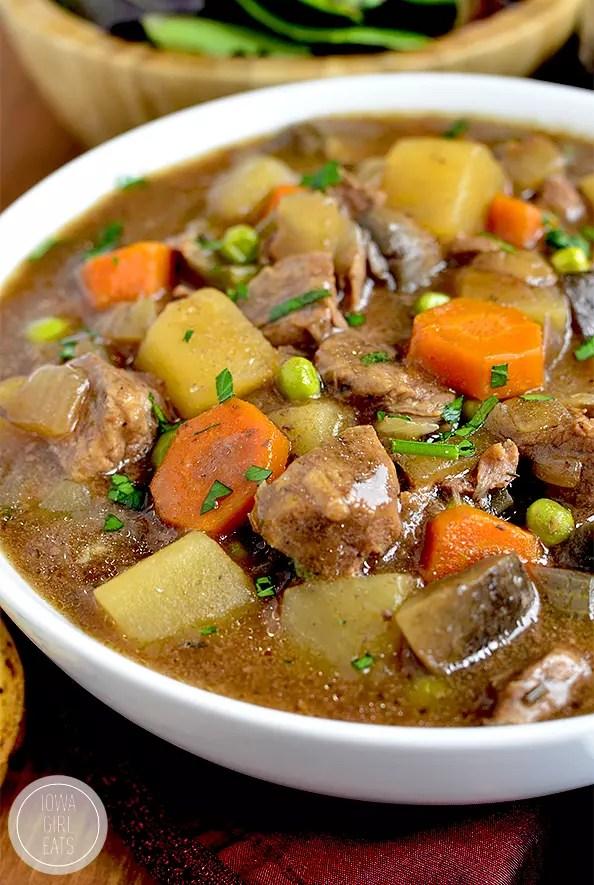 Crock Pot Beef Stew - Iowa Girl Eats