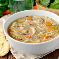 Crock Pot Chicken and Wild Rice Soup (Video)