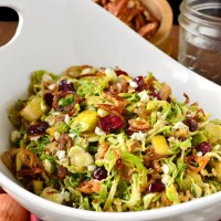Fall Shredded Brussels Sprouts Salad