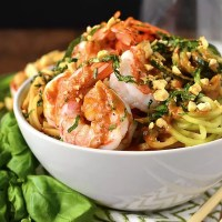 Summer Roll Noodle Bowls with Peanut Sauce