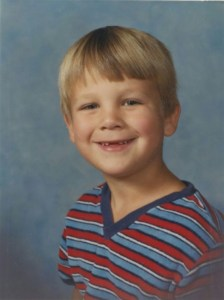 Andy Lamp in the third grade. Photo: Contributed/IowaWatch